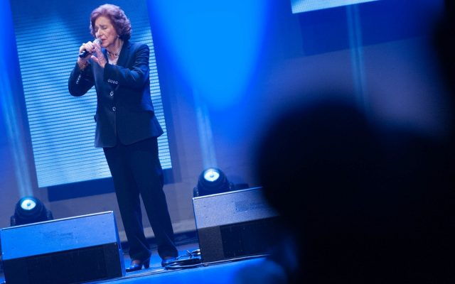 Olga Ramos durante su actuación en los Premios Taburiente 2016 | Foto: Diario de Avisos