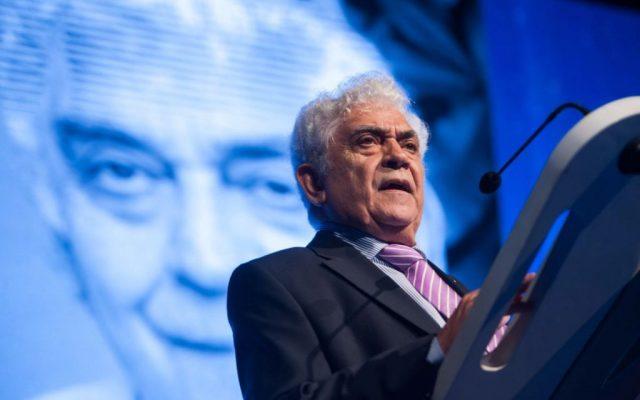 José Antonio Pardellas, recoge su Premio Taburiente   Foto: Fran Pallero